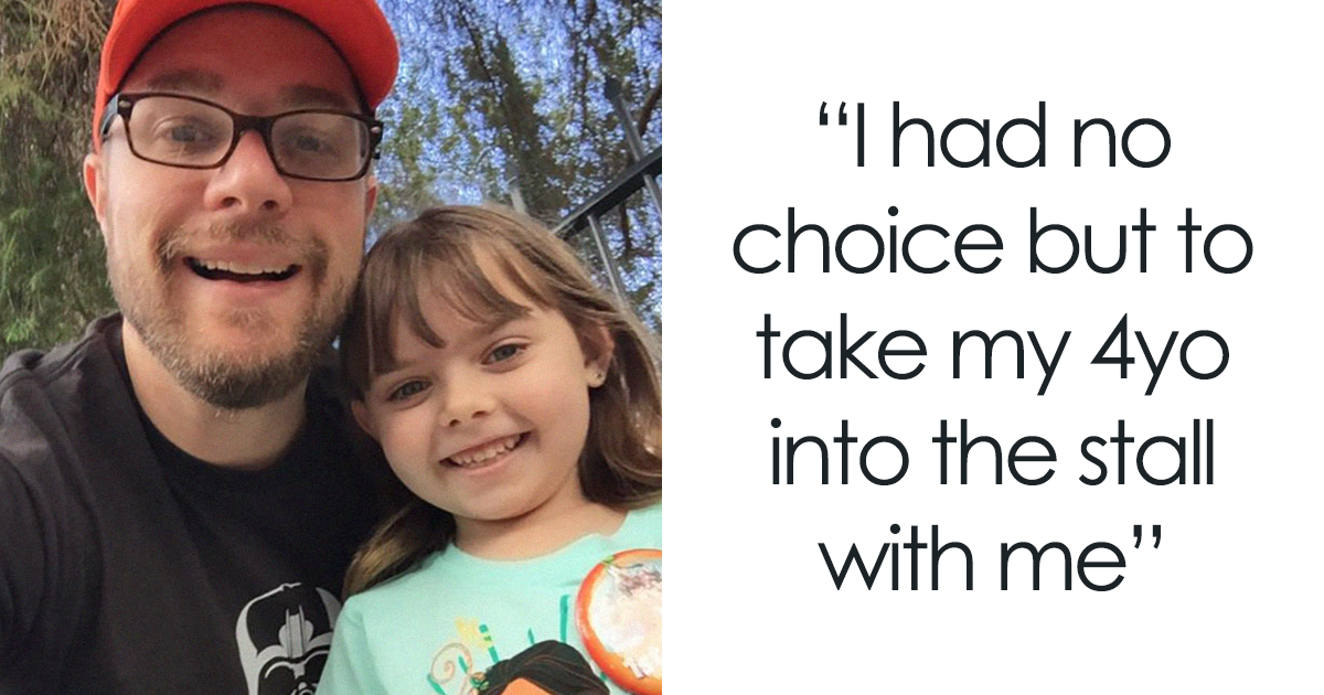 Dad Has Diarrhea In Public Bathroom With His 4-Year-Old, And Her Response Makes Everyone Die From Laughter