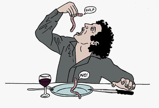 «Русские не перекусывают. Они убивают червя»