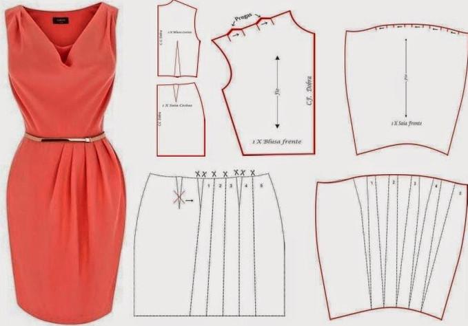 Блузки и платья с выкройками на любой вкус! Выкройка и индивидуальный пошив актуальны во все времена