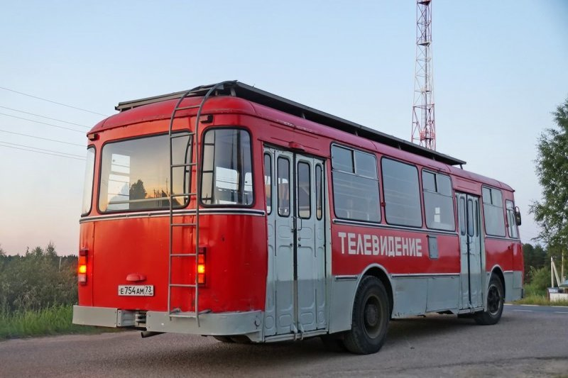 Капсула времени: телевизионный ЛиАЗ-677М ЛиАЗ 677, авто, автобус, лиаз