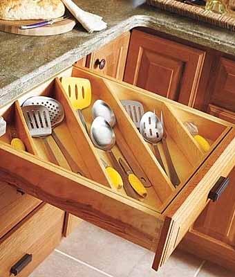 12 идей для порядка на полках кухонного шкафа