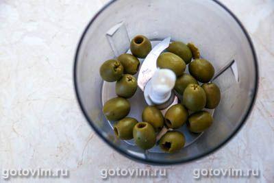 Хумус с оливками, Шаг 02