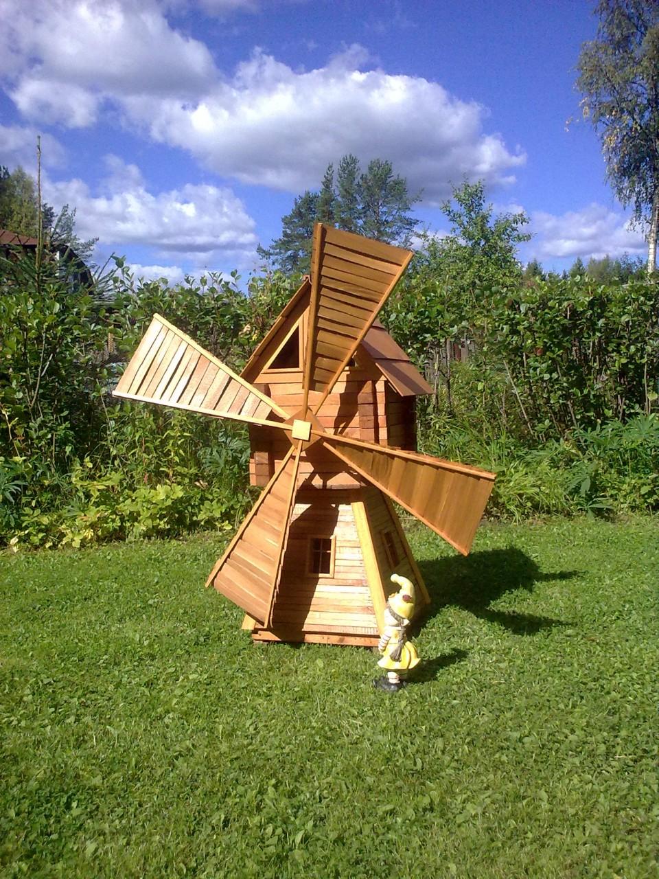 Декоративная мельница на даче своими руками пошаговая инструкция