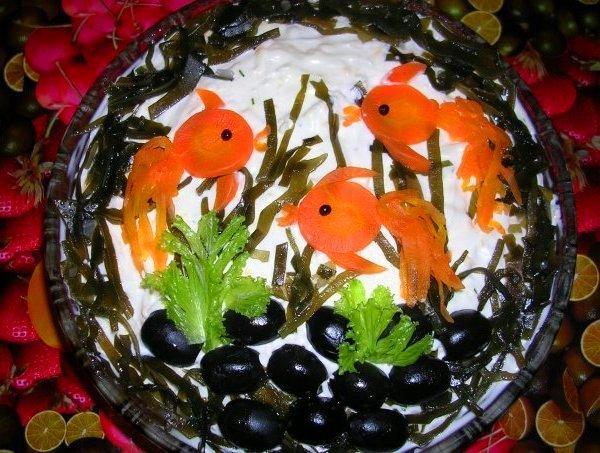 Украшения салатов по простому