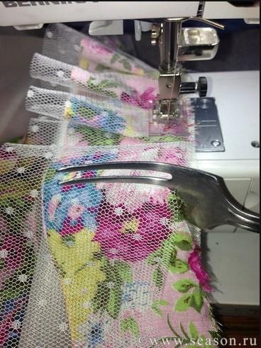 Изготовление складок при помощи вилки