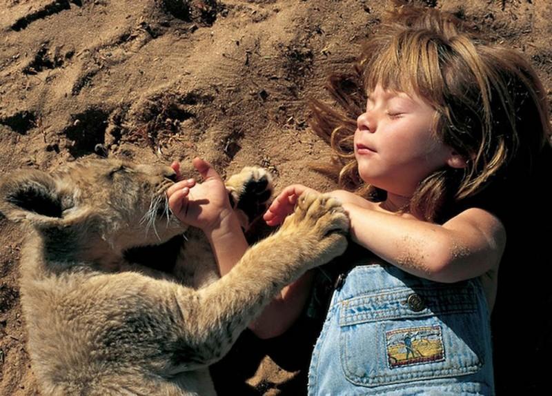 kidsanimals07 800x574 10 самых трогательных историй общения детей и животных