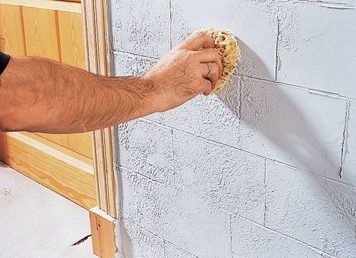 Имитация камня своими руками на стене