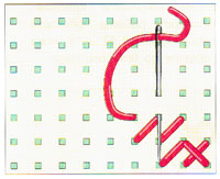 Вышивка крестиком по диагонали. Двойная диагональ справа налево (фото 4)