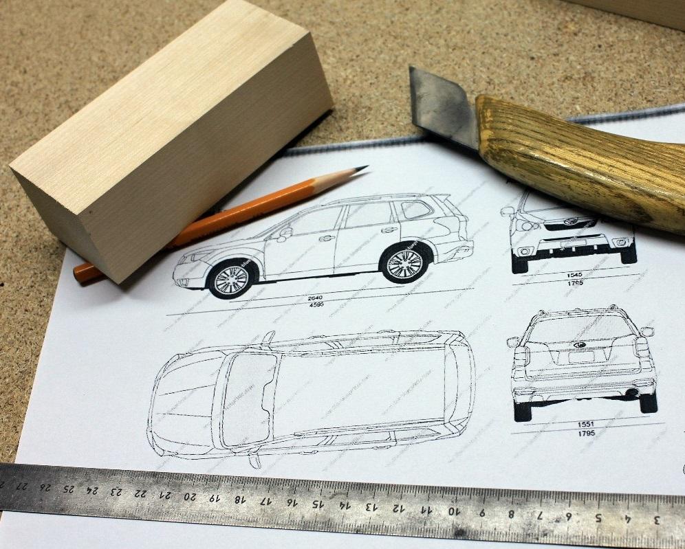 Как делают деревянные модели Subaru Forester