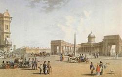 Петербург. Вид на казанский собор со стороны Невского проспекта