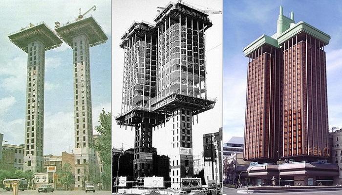 Эти здания строили сверху вниз и утверждали, что такая технология гораздо эффективнее традиционной