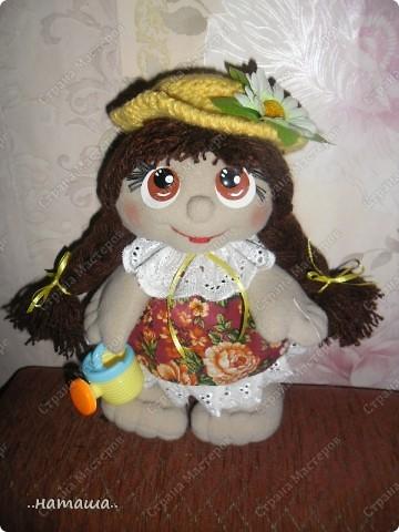 Игрушка, Куклы Шитьё: Куклята Пряжа, Пуговицы, Ткань. Фото 13