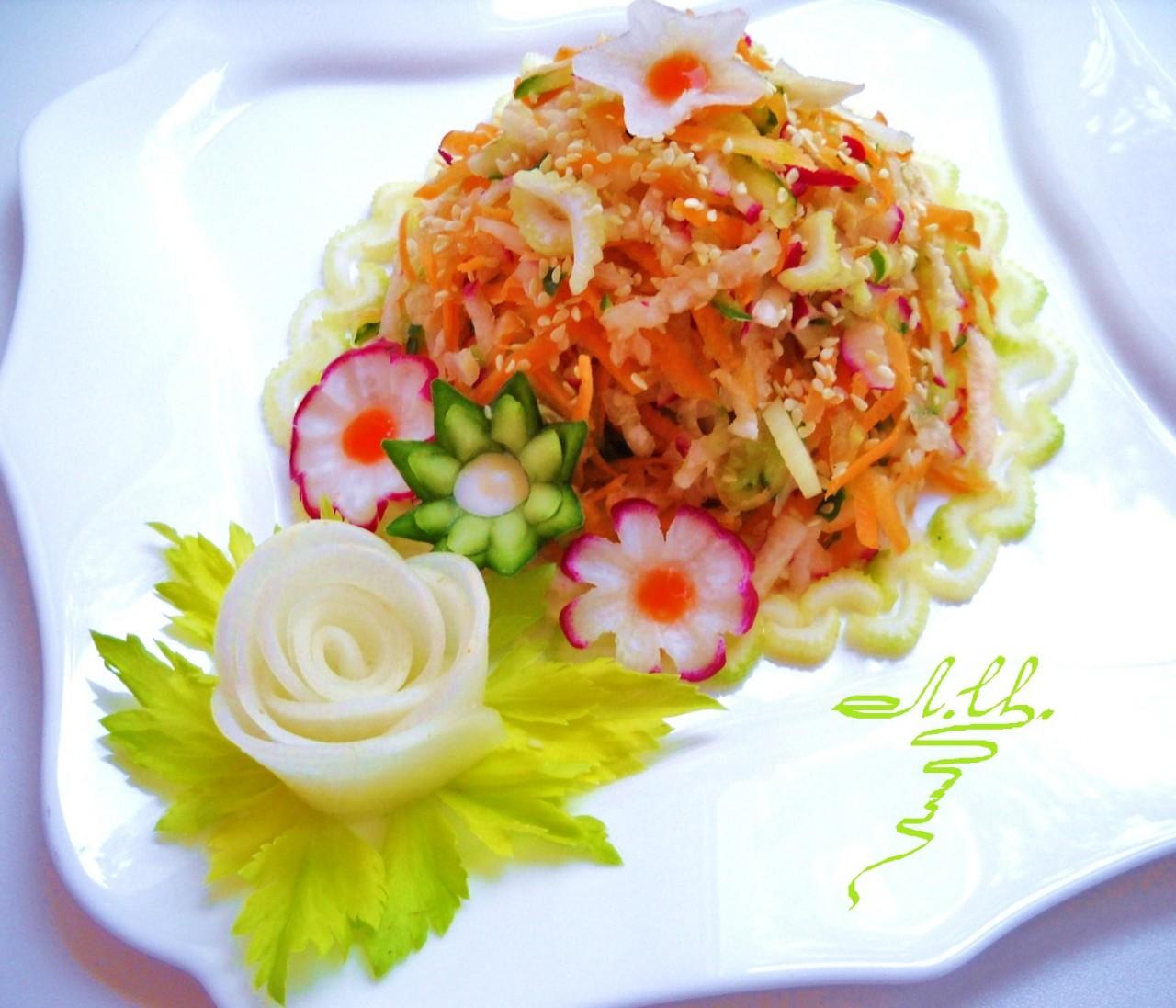 Постный салат.