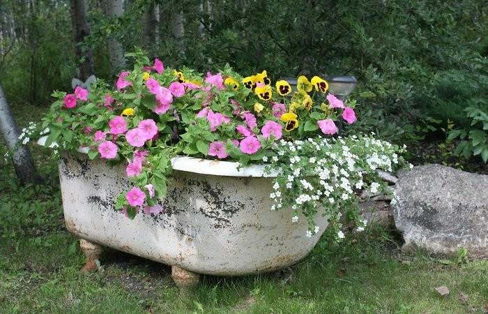 Несколько веских причин, почему старую ванну не нужно выбрасывать, а лучше отвезти на дачу