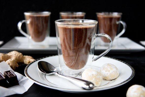 Пикантный имбирный горячий шоколад