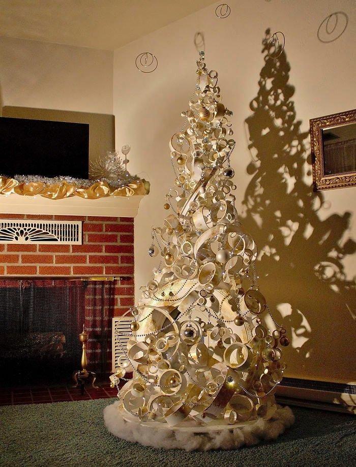 Креативные новогодние ёлки, сделанные своими руками