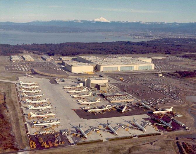 Завод Boeing Everett в США боинг 747, история создания, технологии