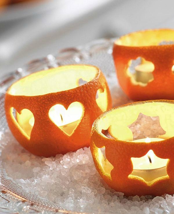 Как сделать свечку в апельсине