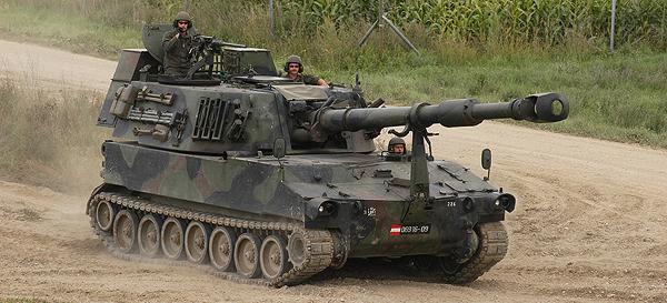 Латышские военные приняли на вооружение 47 самоходных гаубиц