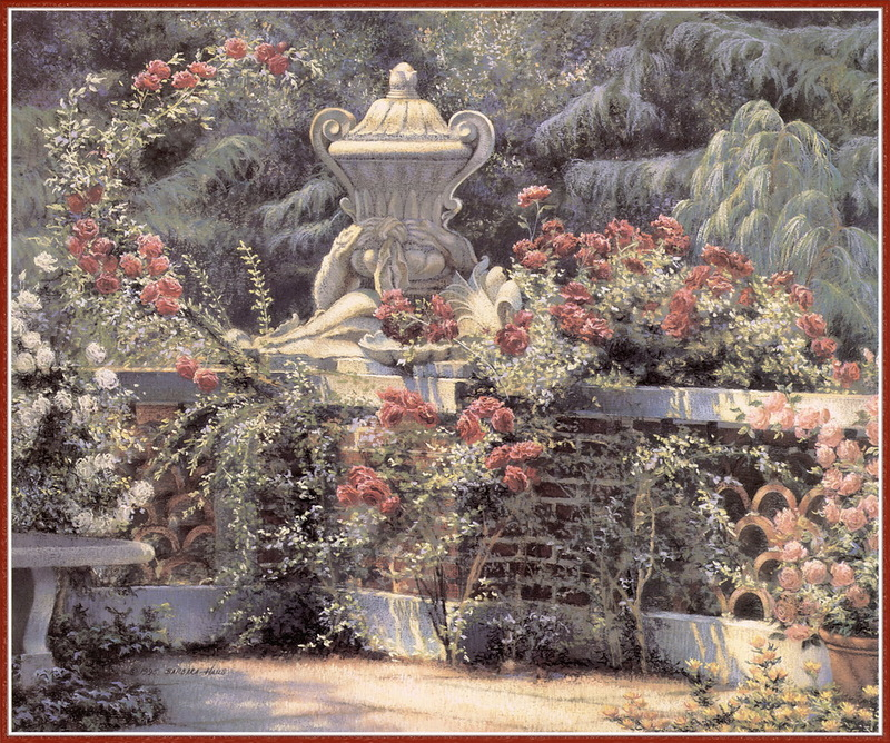 Цветущий сад американской художницы Barbara Hails