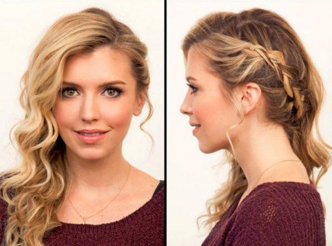 Прически из жидких волос средней длины