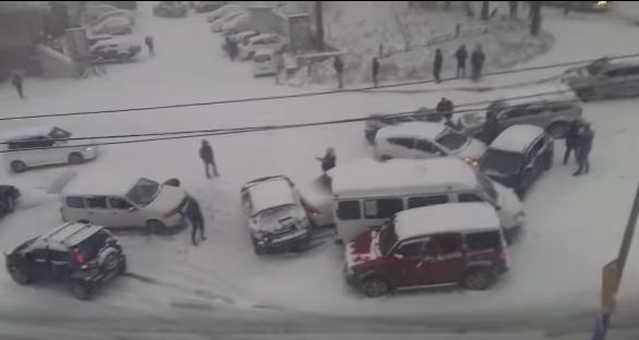Владивосток. Опять зима пришла неожиданно!