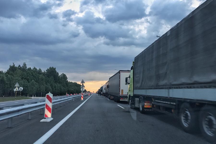 Такого на российско-белорусской границе не видел никогда в жизни...