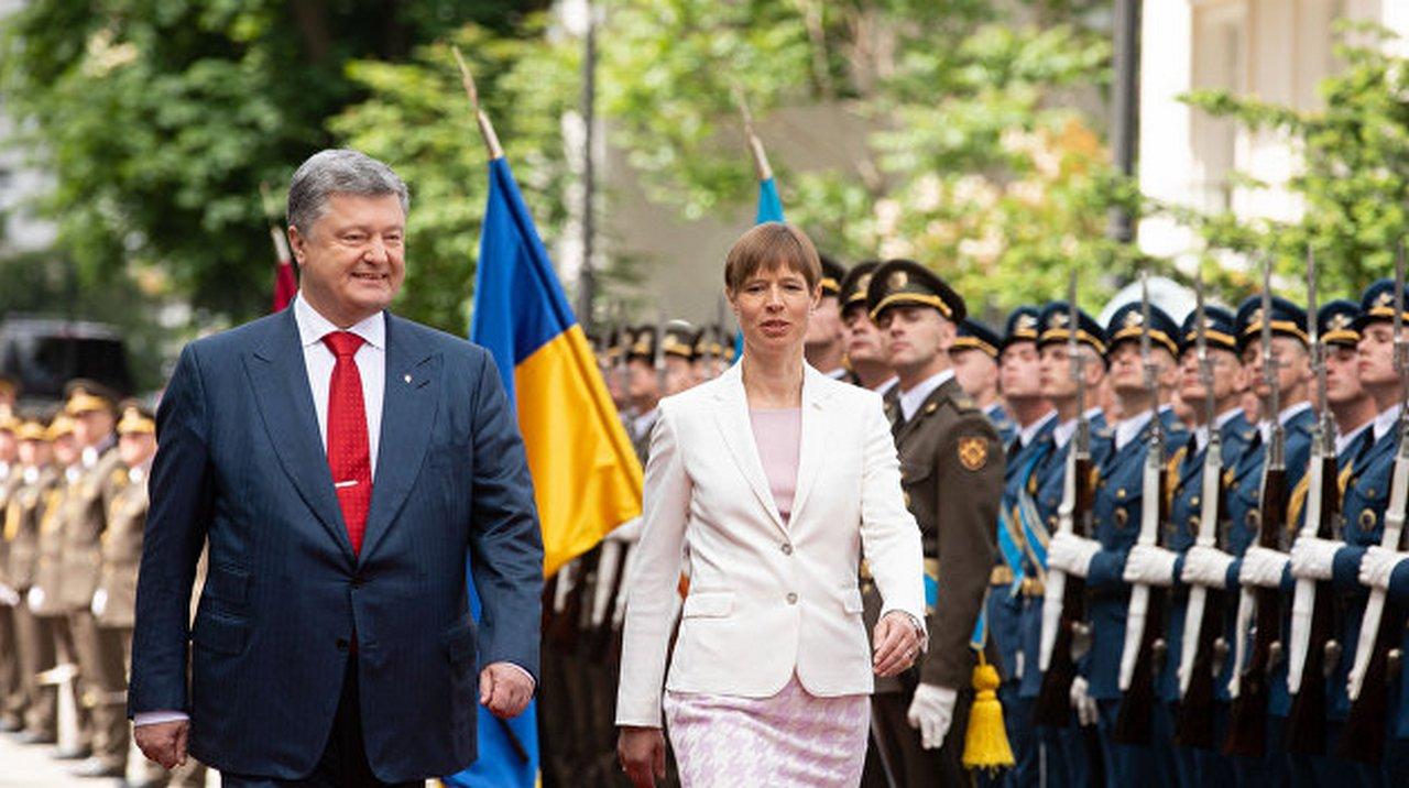 Братья навек: эстонский президент с командой десантировалась в Киеве