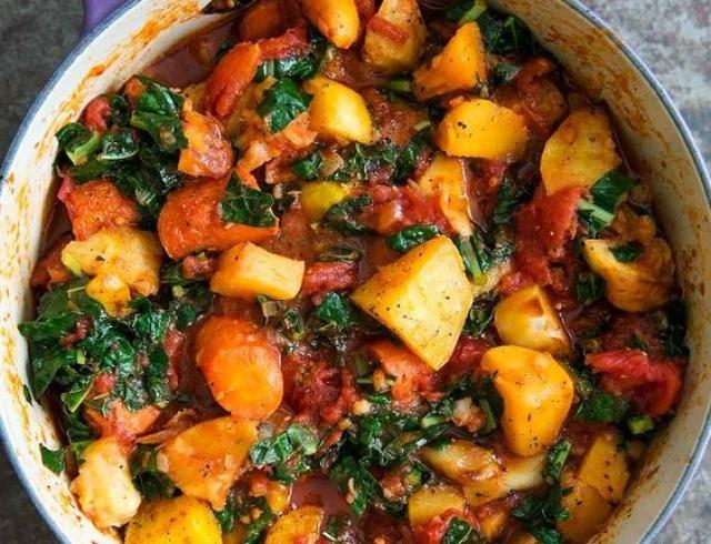 Как приготовить рагу из овощей с картошкой и мясом