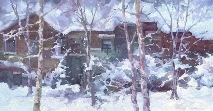 Утром после снегопада