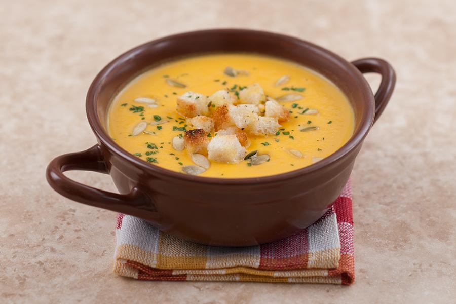 Суп из тыквы с беконом рецепт