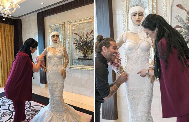 Торт в форме невесты в полны…