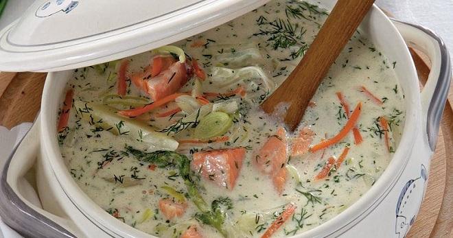 Сливочный суп с семгой - самые вкусные рецепты необычного скандинавского блюда.
