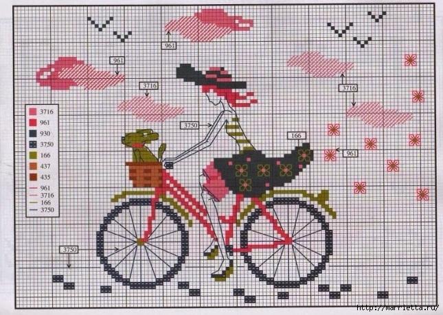 Вышиваем велосипед. Идеи со схемами (15) (645x459, 287Kb)