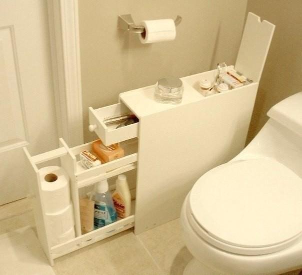 Удобный шкафчик для ванной комнаты