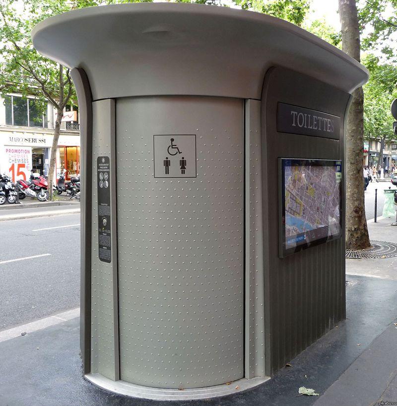 Туалет дизайн улица
