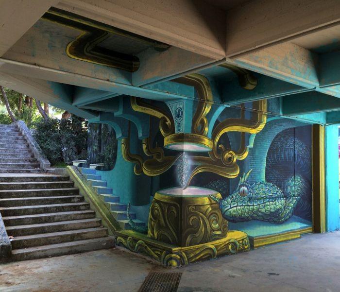Трехмерные работы уличных художников
