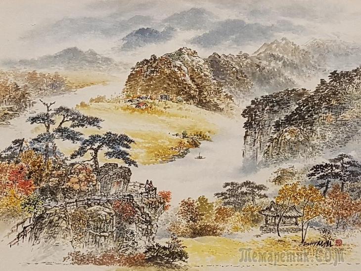 Корейская живопись.Пак Хи Тхэк - Park Hee Tak (박희탁). Республика Корея