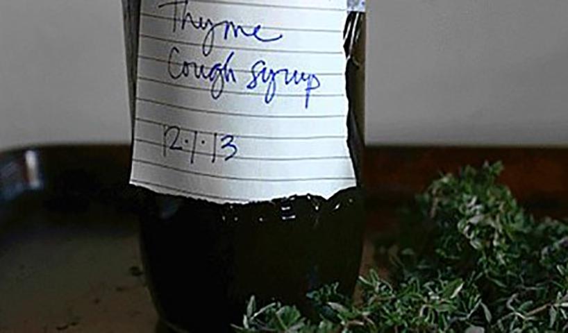 Этот имбирно-тимьяновый сироп остановит любой кашель