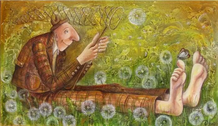 Ловец счастья в полях бесконечной росы. Автор: Яна Фефелова.
