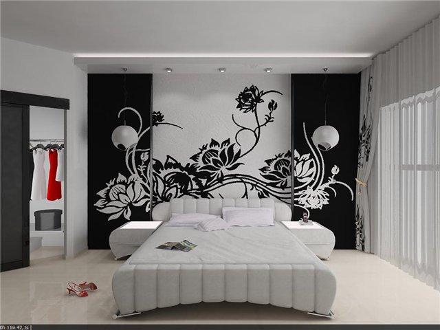 Рисунок на стену своими руками в спальню