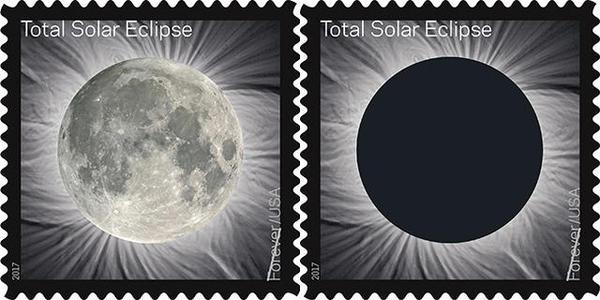 Почта США выпустит марку с солнечным затмением. Если ее потрогать, проявится Луна