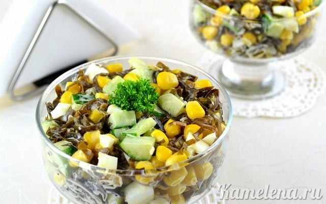 Невероятно вкусный и полезный салат из морской капусты