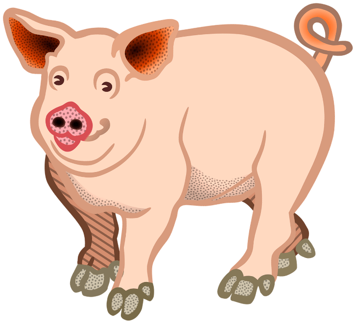 шаблон улыбающейся свиньи