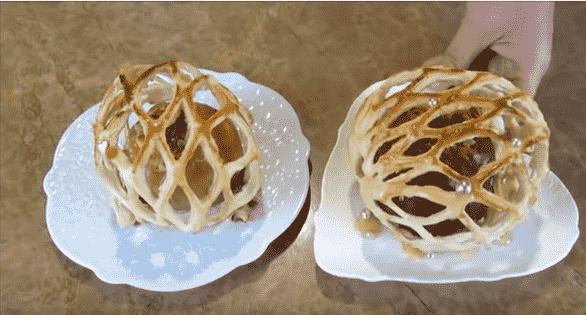Яблоки в ажурной решетке: улётное блюдо!