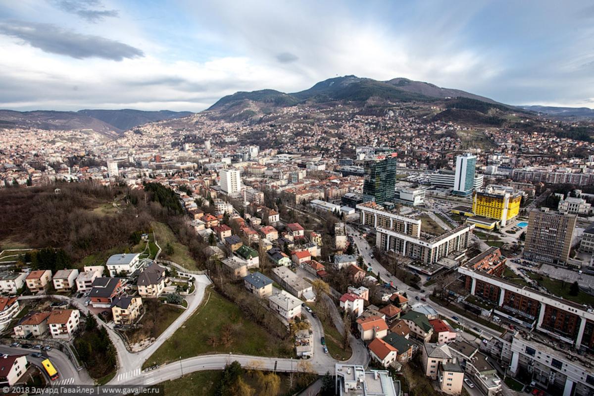 Как выглядит Сараево с высот…