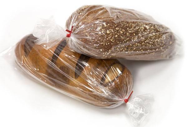 Хлеб в полиэтиленовых пакетах