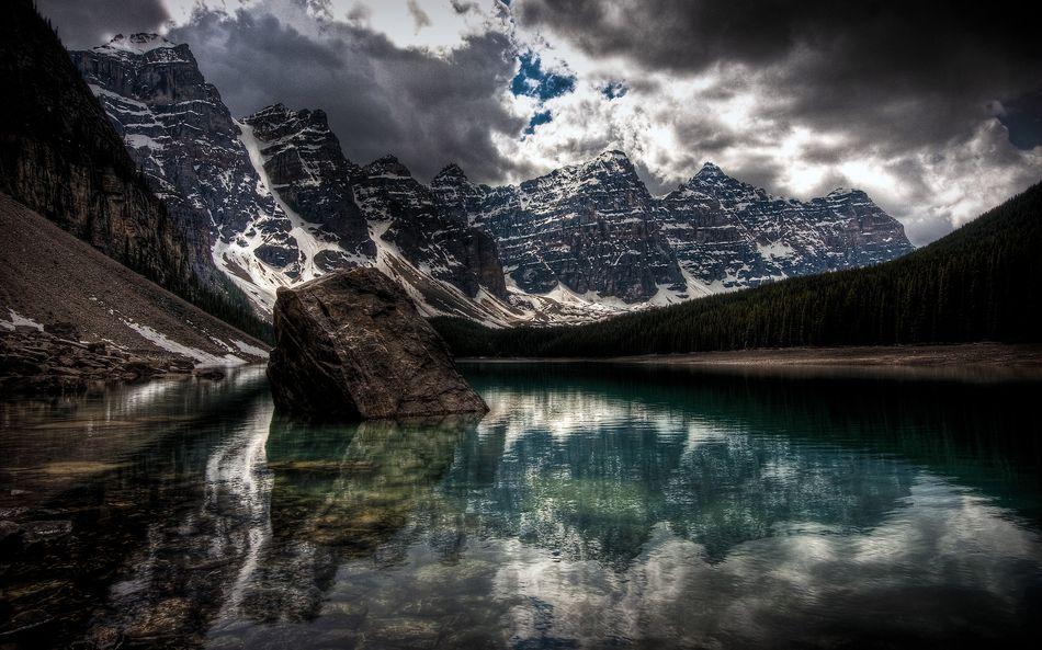 Озеро Морейн - жемчужина Канады
