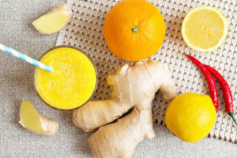 Изображение рецепта Горячий смузи с апельсином и имбирём