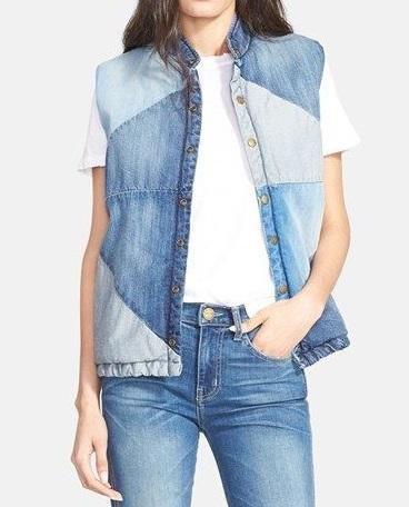 Из пары джинсов - нечто оригинальное:  жилеты, курточки и всякое другое тёпленькое